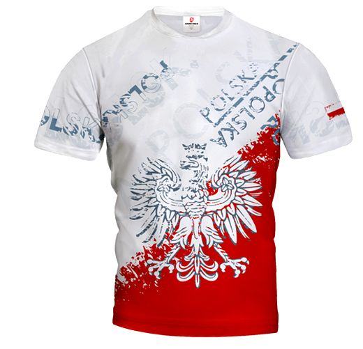 POLSKA STREET Poland Men's Jersey Short Sleeve White&Red EAGLE