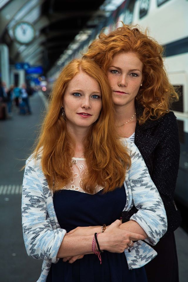 Swiss sisters #redhead #sisters #red #hair #double #portrait #beauty #freckles