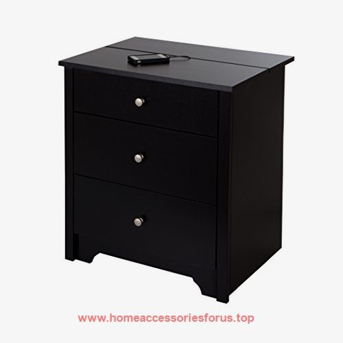 South Shore Vito Nightstand with Charging Station and Drawers, Pure Black  BUY NOW     $152.99    The Vito night stand features modern convenience and transitional craftsmanship, for a great blend of minimalist style and fu ..  http://www.homeaccessoriesforus.top/2017/03/06/south-shore-vito-nightstand-with-charging-station-and-drawers-pure-black-2/