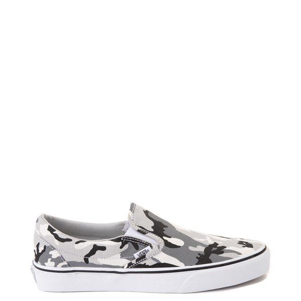 Vans Slip On Skate Shoe - Gray Camo in