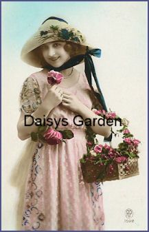 Vintage Image Satin Transfer. Daisys Garden Embroidery is an Online Store supplying to the hand embroiderer and crafter.