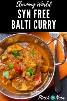 Syn Free Curry Balti | Slimming World Recipes - pinchofnom.com