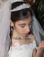 Italian Collection - Principessa swarovski crystal communion tiara - SALE