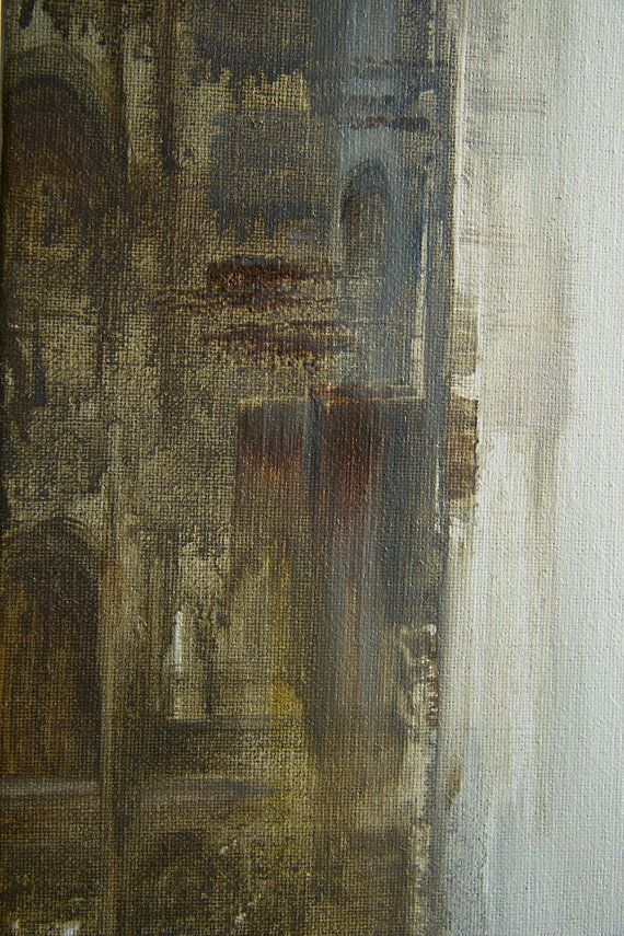 "Fragment. Oil painting ""Phantom"" original unique abstract by TatyanaGoodz"