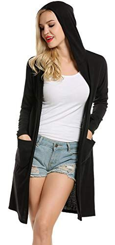 998a278c37 New Newchoice Women's Long Sleeve Solid Hoodie Lightweight Open Front  Oversized Cardigan Coat online. [$15.99] topstorehits offers on top store