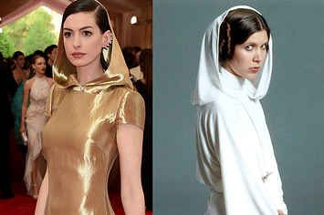 8 Silly Things Anne Hathaway Looked Like At The Met Gala
