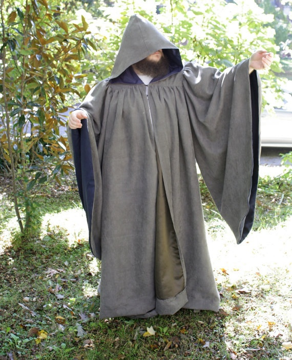 WIZARD robe Gandalf Dumbledore Magician Priest by MyFunkyCamelot, $250.00