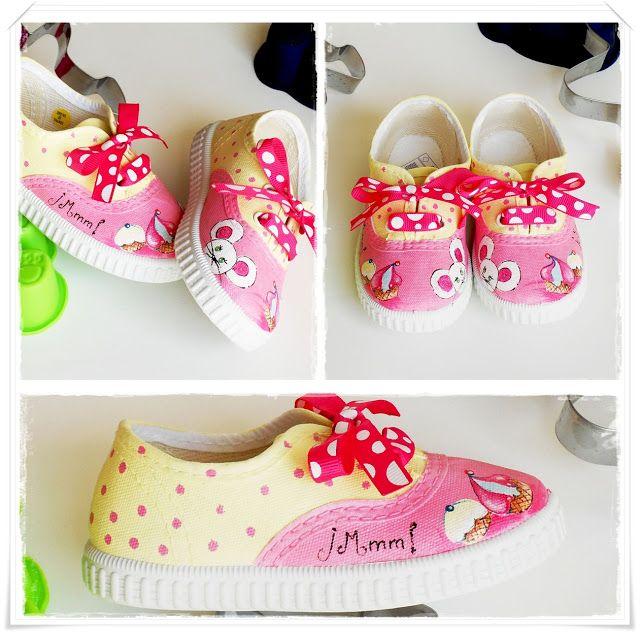 Zapatillas pintadas a mano. Diseños para adultos, bebes y niños