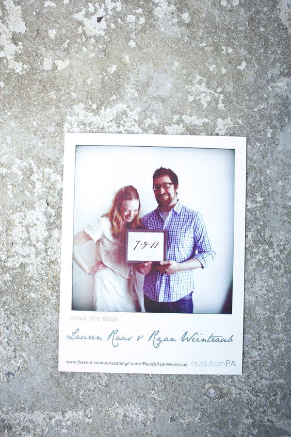 Polaroid Save the Dates