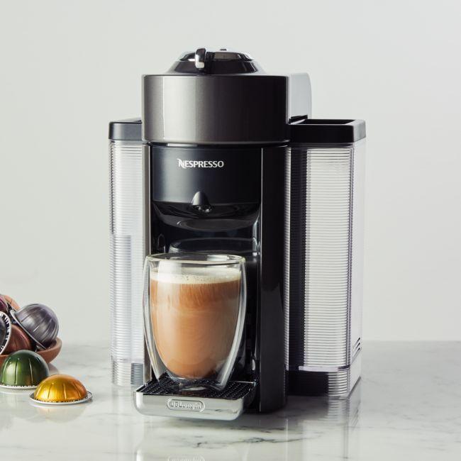Nespresso By De Longhi Graphite Vertuo Coffee And Espresso Machine Crate And Barrel In 2020 Nespresso Espresso Machine Cappuccino Machine