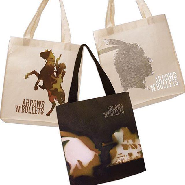 BFI Film Festival Brief, Western Genre: Arrows'n'Bullets - merchandise; solution created with handmade stencils & spray-can art. More at: www.karinya.me #bagdesign #bagart #stencils #graphicdesigner #graphicdesign #filmfestival #design #western #cowboysandindians #merchandise #westerngenre #horses #indians #lovedesign #movies #spraycanart