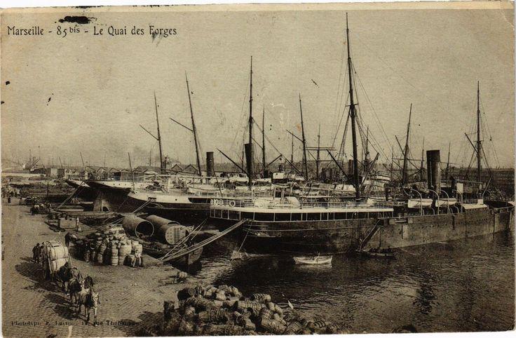 Marseille, le quai des Forges.