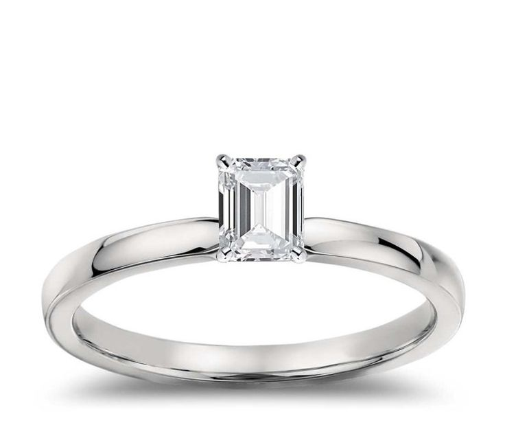 Platinum 0.46ct D VS1 Emerald Cut Diamond Solitaire Engagement Ring Hand Made GIA CERTIFIED by WGJewellery on Etsy