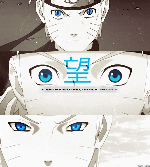 Wow. I like the colour of Narutos eyes! So blue!!!!