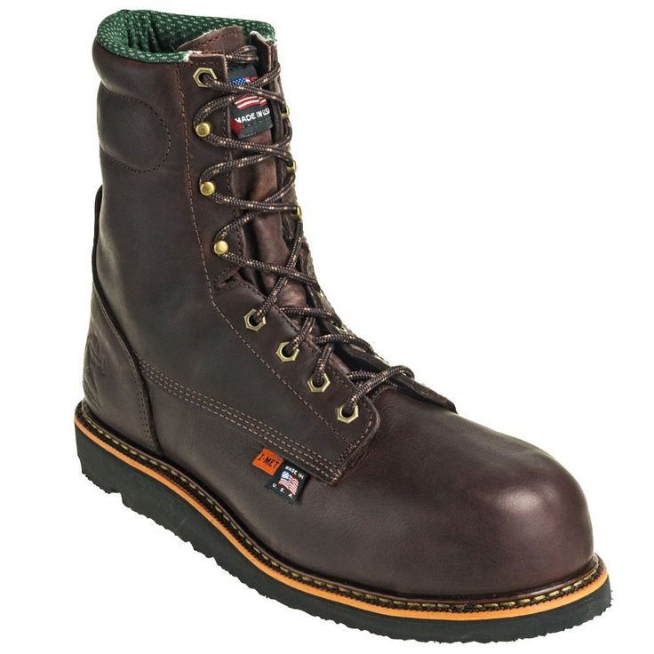 Working Persons Store Men's Brown 2418 Composite Toe USA Made EH Wedge Boots
