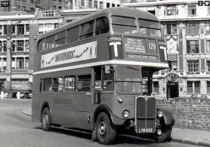 London Bus from the 1950s -This Red Double-Decker RT model was ...