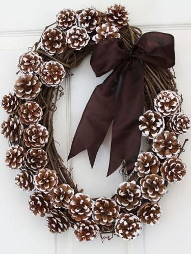 pine cone wreath*instructions love it!!!!!!!