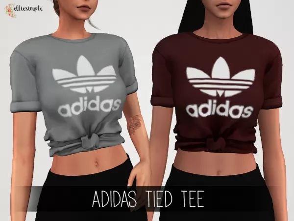 Elliesimple – Adidas Tied Tee – The Sims 4 Download – SimsDom RU