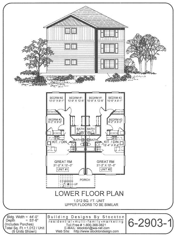 202 best images about apartment house plan ideas on for Apartment plans 8 plex