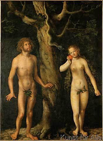Lucas Cranach der Ältere - Adam und Eva