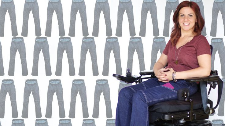 Paralyzed designer creates jeans for women in wheelchairs ...