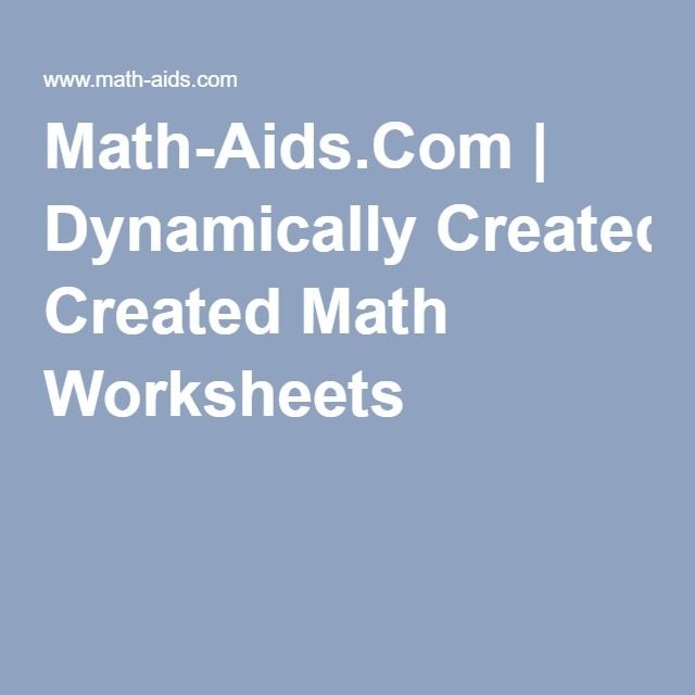 math worksheet : math aids com  dynamically created math worksheets  homeschool  : Dynamically Created Math Worksheets