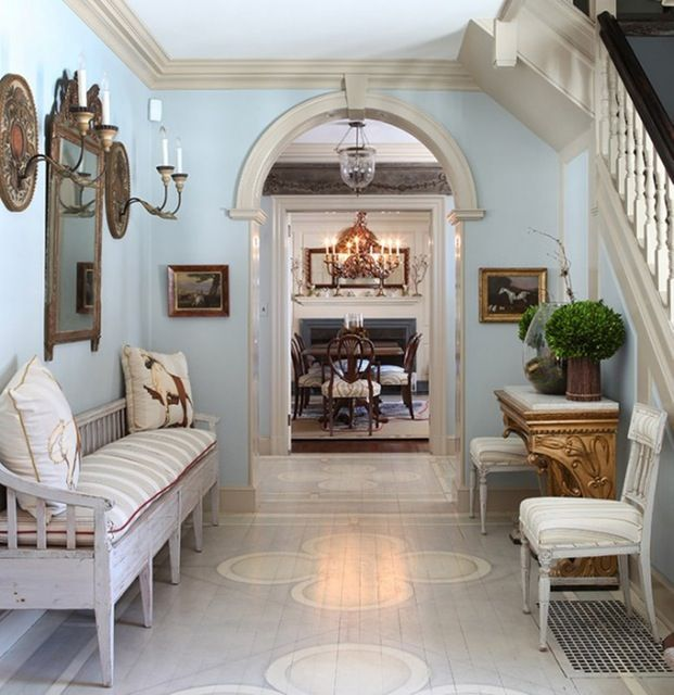 Painted floor! Design by Judy King Interiors