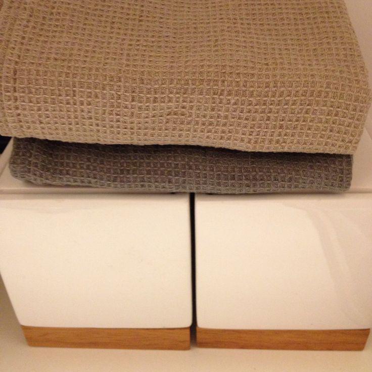 Capri Waffle Towels, Linen | Balmuir