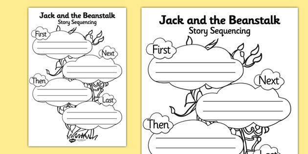 Jack And The Beanstalk Story Sequencing Worksheet