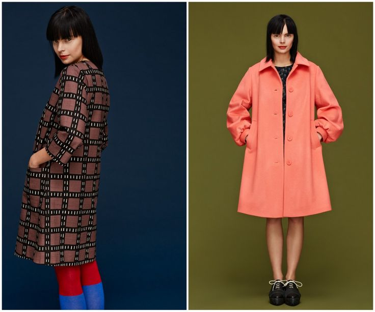 Finnish fashion brand Marimekko AW13 collection: Fiinu coat & Vele coat. Click to see more: www.fashionflashfinland.com !