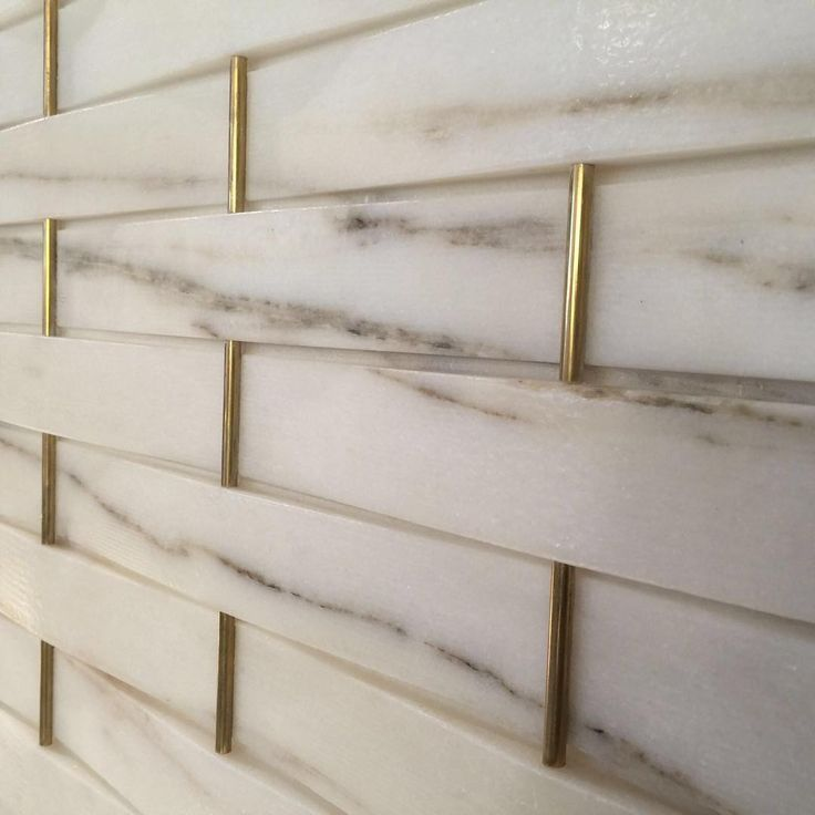 """""""Another great find at Salone del Mobile today. Woven marble and brass…"""