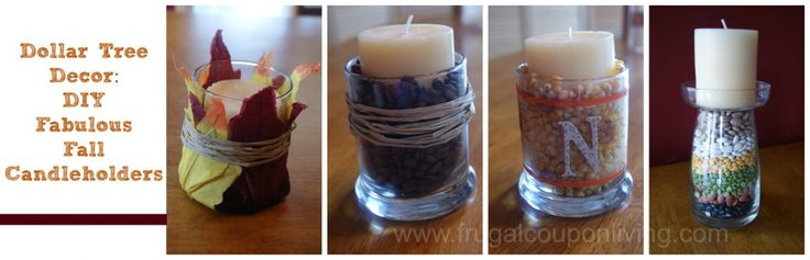 Dollar Tree Fall Decor – Decorate with Autumn Candles on a Frugal Budget #Craft