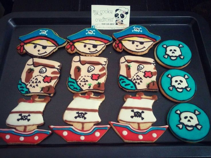 1doz entregada el pasado weekend!!! #pirates ❤😍 #inlove #mycookiecreations 🍪😋☺ 💀🚩⚓⛵ #cookies