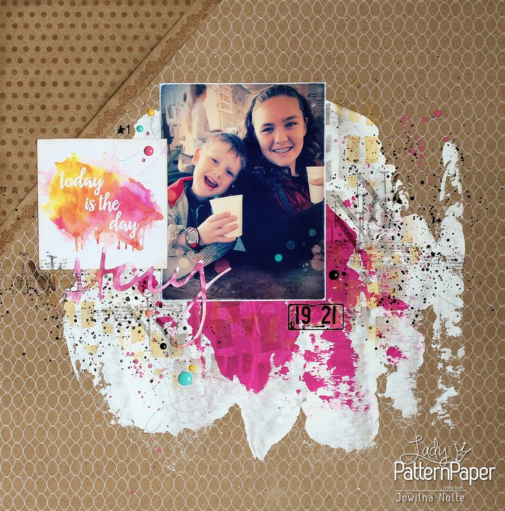 Jowilna takes us on a step by step journey of anatomy of a the single page scrapbook layout using #LadyPatternPaper's #KraftEssentials range! #Scrapbooking