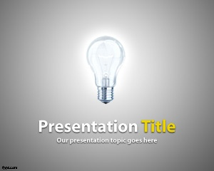 Free Light PowerPoint Template for startups and business ideas in PowerPoint presentations