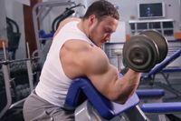 Упражнения для бицепсов https://mensby.com/sport/muscles/2512-exercises-biceps  Двуглавая мышца плеча или бицепс – одна из самых зрелищных мышечных групп у мужчин. Как правильно накачать бицепс и увеличить его объем до желаемого размера.