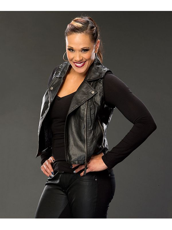This is WWE Wrestler Tamina Snuka Black Vest Tamina Snuka is a professional Wrestler and actress.