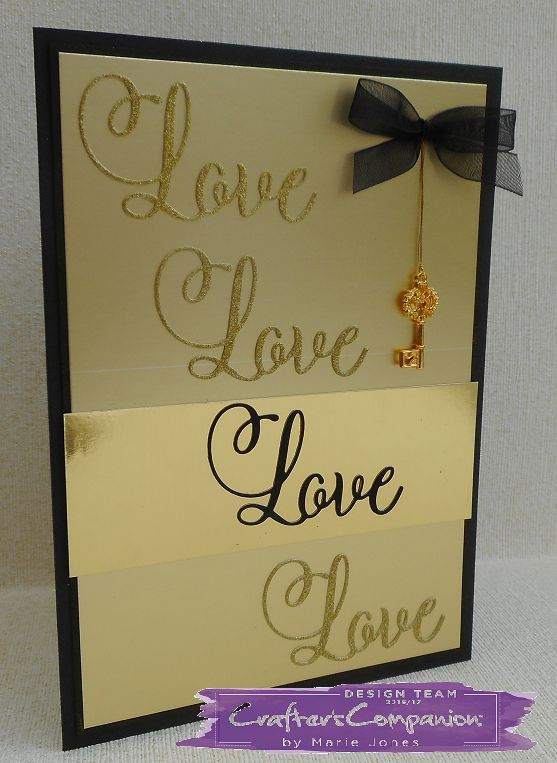 Crafter's Companion Sara Davies Signature Black & Gold Metal love에 대한 이미지 검색결과