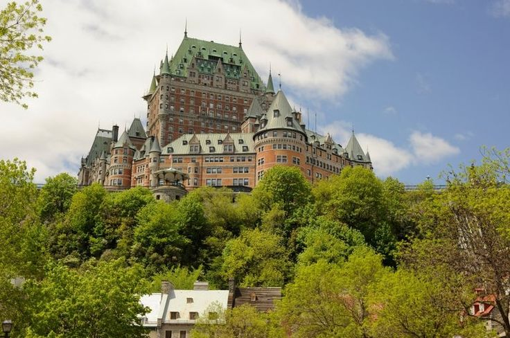 Chateau Frontenac in spring, Old Quebec City