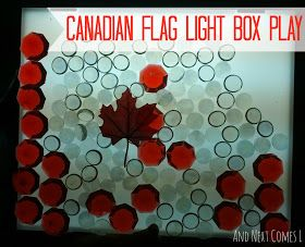 And Next Comes L: Canadian Flag Light Box Play