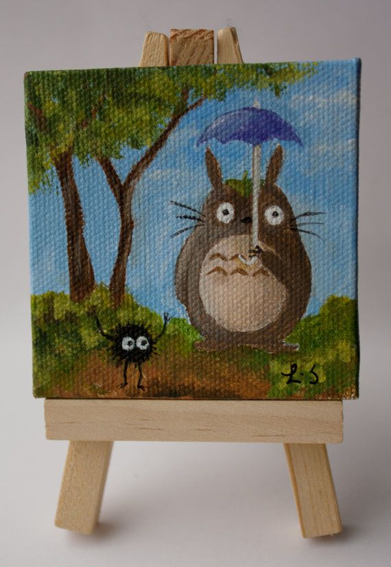 Totoro And Soot Cross Over Mini Painting Minipainting