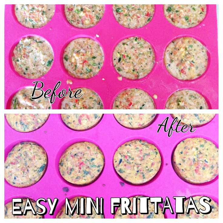 Easy Mini Frittatas Before / After