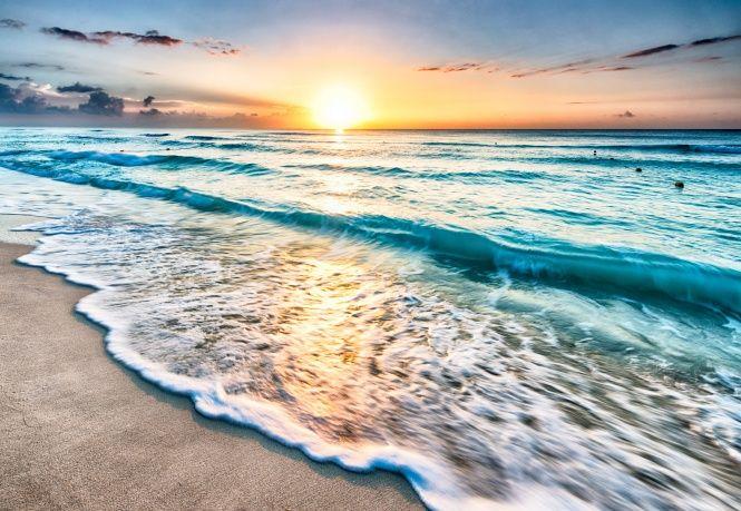 Deniz manzarası, gün batımı, plaj, kum, deniz, deniz, sahil, plaj, günbatımı