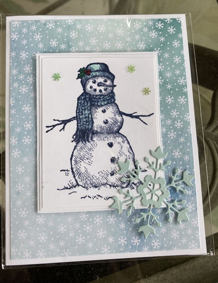 Stampin' Up! snow wonder in 2020 Stamped christmas cards