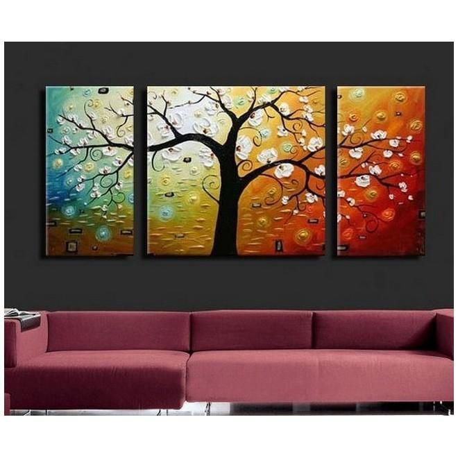 3 Piece Canvas Art 3 Panel Canvas Painting Extra Large Canvas Painting For Living Room Living Room Canvas Painting 3 Piece Canvas Art Tree Of Life Painting