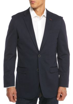 Tommy Hilfiger Men's Navy Knit Sportcoat - Navy - 46 Regular
