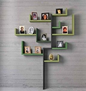 Modern picture tree.: Decor, Ideas, Photo Display, Trees Shelves, Family Trees, Families Photo, Wall Shelves, Families Trees, Shelves United