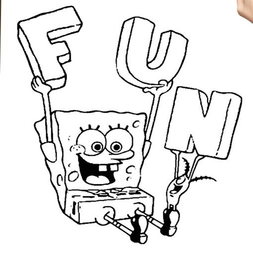 13 best Sponge Bob images on Pinterest Draw, Bobs and Drawing ideas - copy fun coloring pages spongebob