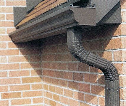 Rain Gutters and Downspouts Colorado | round aluminum and copper gutters all seamless gutter installations ...