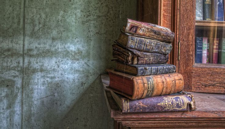 'Soiled' old books HDR Urbex
